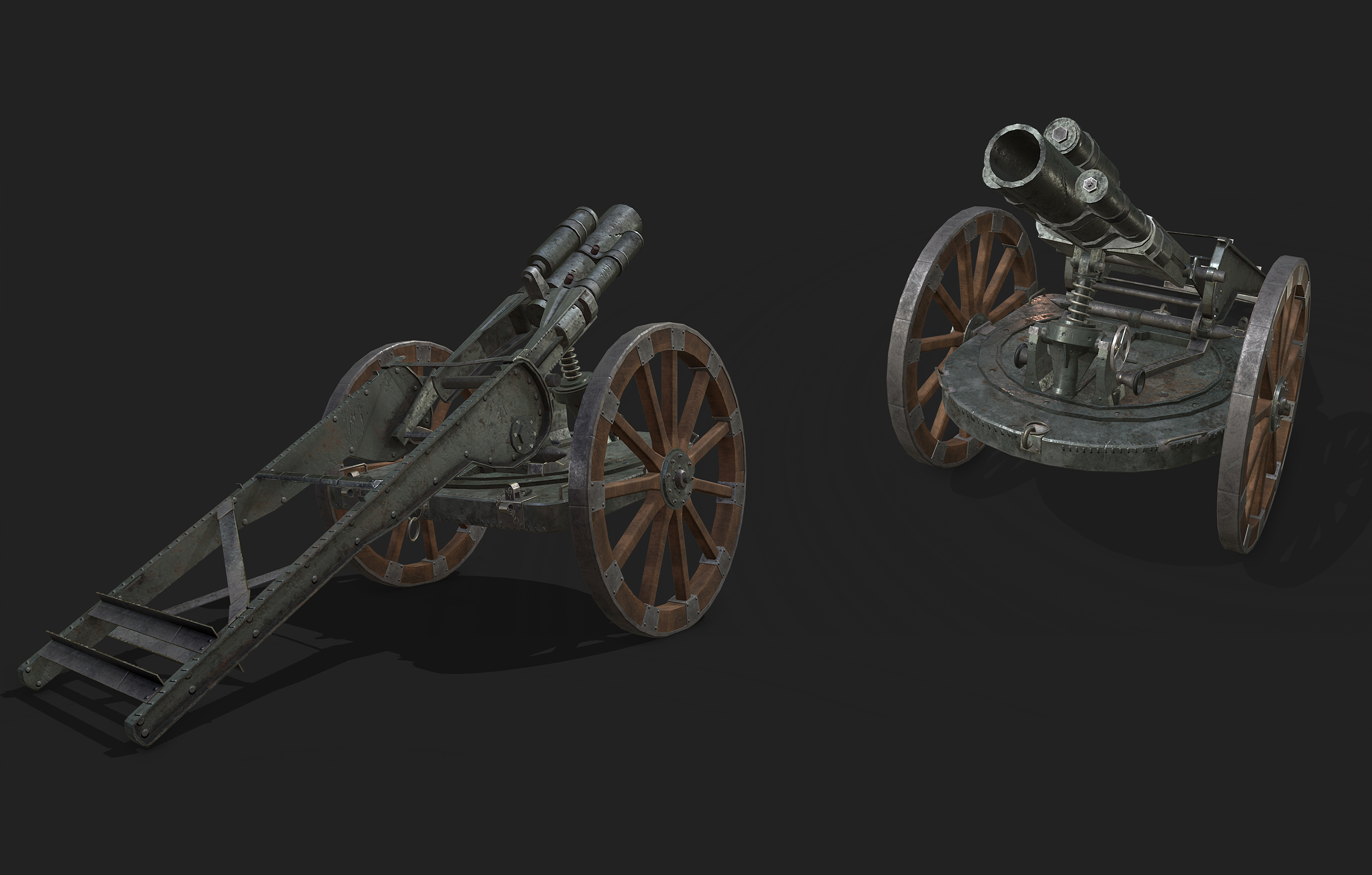 3D WWI weapon Game Ready